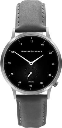 Church's LEONARD AND Leonard & Sullivan Automatic Suede Strap Watch, 39mm