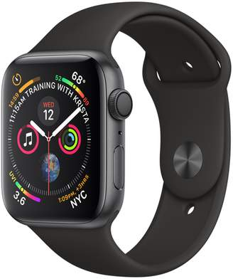 Apple AppleWatch Series4 GPS, 44mm Space Gray Aluminum Case with Black Sport Band