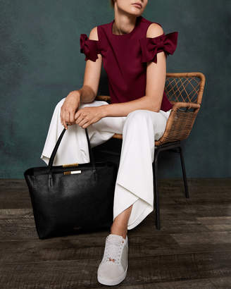 Ted Baker CAULLIE Bow detail leather shopper bag