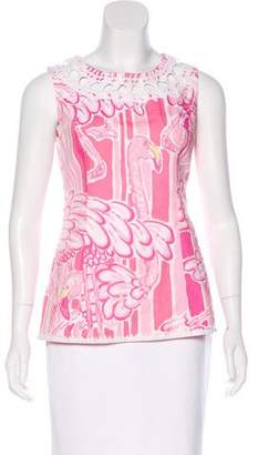 Lilly Pulitzer Sleeveless Printed Top
