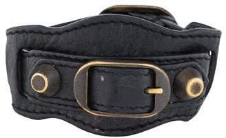 Balenciaga Edge Leather Wrap Bracelet