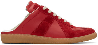 Maison Margiela Red Open-Back Replica Sneakers $495 thestylecure.com