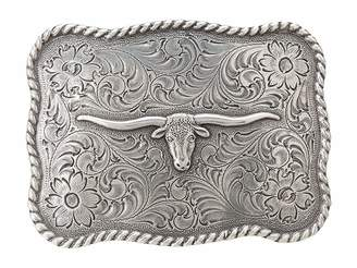 M&F Western Antiqued Longhorn Buckle
