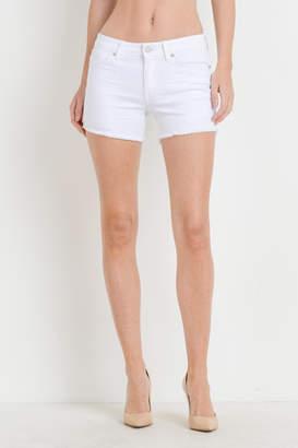 Just USA White Frayed Shorts