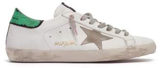 Golden Goose Super Star Low Top Leather Trainers - Mens - Green White