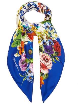 Dolce & Gabbana Majolica-print silk scarf