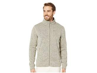 Lucky Brand Fleece Full Zip Mock Neck Sweatshirt