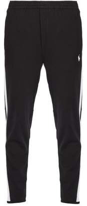 Polo Ralph Lauren Side Striped Cotton Jersey Track Pants - Mens - Black