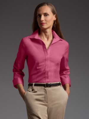 Wrinkle-resistant stretch blouse