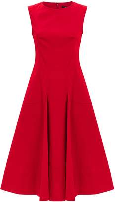 Derek Lam Fit-And-Flare Red Midi Dress