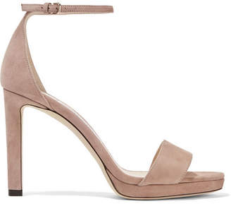 Jimmy Choo Misty 120 Suede Sandals
