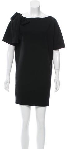 Miu Miu Miu Miu Wool Sash-Tie-Accented Dress
