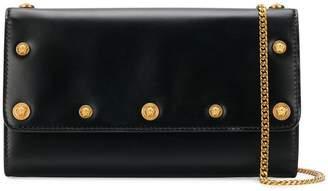 Versace medusa button clutch