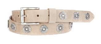 Brave Leather Bellsie Studded Leather Belt - Mushroom