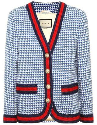 Gucci Web-trimmed wool jacket