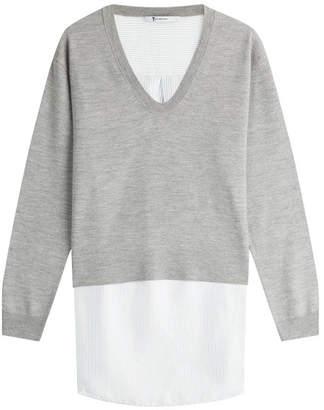 Alexander Wang Layered Merino Wool Pullover and Shirt Combo