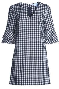 Draper James Gingham Double Bell-Sleeve Shift Dress