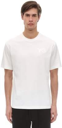 Y-3 Y 3 Logo Cotton Jersey T-shirt