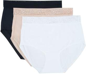 7f358639acb8 Breezies Set of 3 Microfiber Full Brief Panties with Lace