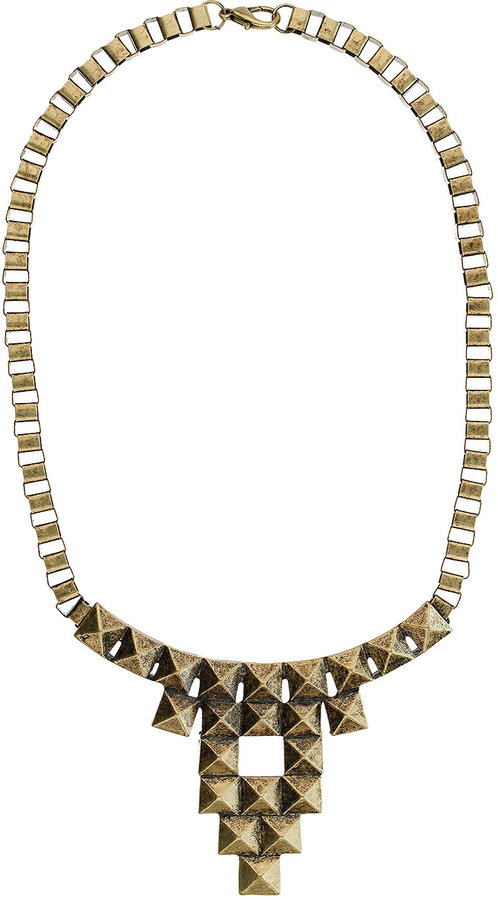 Graphic Box Chain Collar Necklace