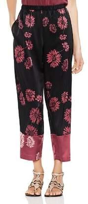 Vince Camuto Chateau Sketch Floral Wide-Leg Pants