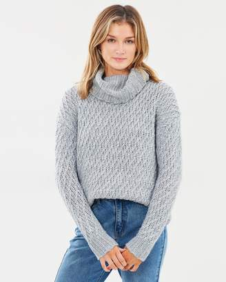 Chunky Rolled Neck Knit Jumper