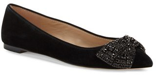 Women's Tory Burch Vanessa Embellished Bow Flat $295 thestylecure.com