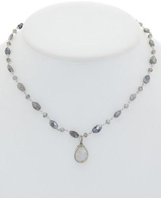 Rachel Reinhardt Silver Labradorite & Moonstone Necklace