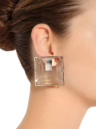 Square Plexi Clip-On Earrings