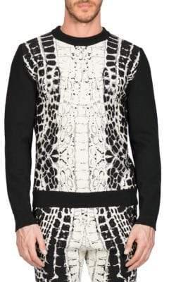 Balmain Devore Crocodile-Motif Sweater