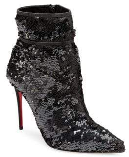 Christian Louboutin Moulakate 100 Sequin Booties
