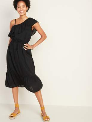 Old Navy Waist-Defined One-Shoulder Midi for Women