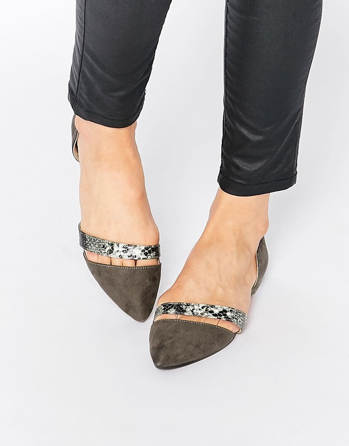 Park Lane Two Part Flat Shoes