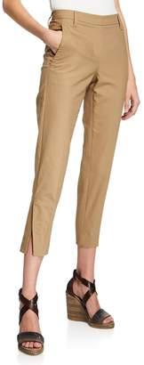 Brunello Cucinelli Straight-Leg Cotton Twill Pants