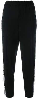 DSQUARED2 cropped logo stripe track pants