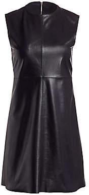 Helmut Lang Women's Leather Cutout Shift Dress
