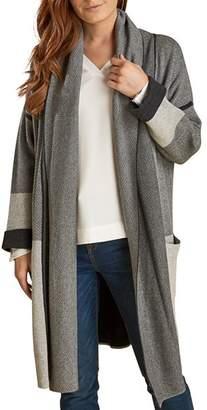Barbour Deveron Shawl Collar Long Knit Cardigan