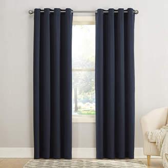 Sun Zero Garrett Room-Darkening Grommet-Top Curtain Panel