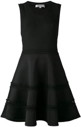Carven sleeveless ribbed skater dress