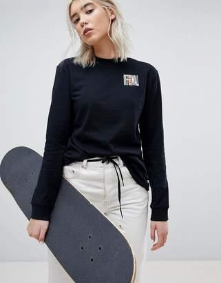 Vans Long Sleeve T-Shirt In Black