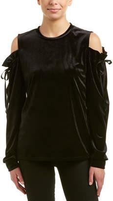DREW Samantha Dru Cold-Shoulder Tie Top