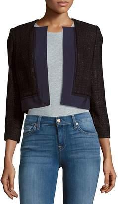 Carolina Herrera Women's Cropped Open Front Silk Jacket