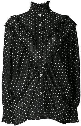 ALEXACHUNG Alexa Chung polka dot batwing ruffle blouse