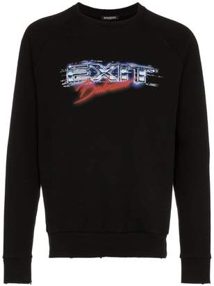 Balmain exit cotton sweatshirt