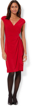 American Living Embellished Surplice Dress $79 thestylecure.com