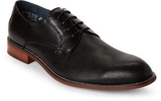 Steve Madden Black Hicksin Perforated Derby Shoes