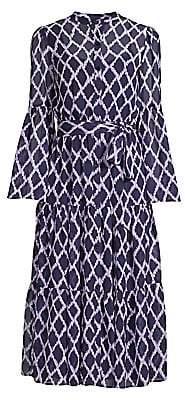 MICHAEL Michael Kors Women's Mega Diamond Print Belted Shirtdress