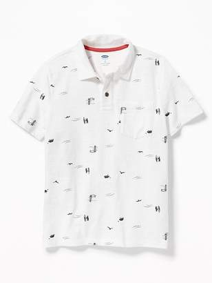 Old Navy Printed Jersey Polo for Boys