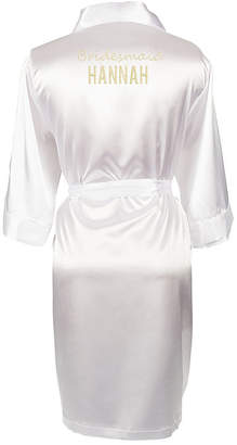 Cathy's Concepts CATHYS CONCEPTS Personalized Solid Satin Satin Kimono Robes