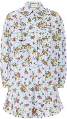1e43d5311 Gucci Floral and striped cotton shirt